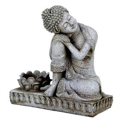 Resting Buddha Candle Holder