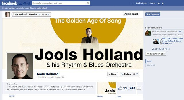 Jools Holland Facebook