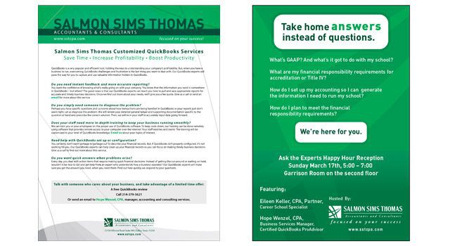 Salmon Sims Thomas Marketing Collateral